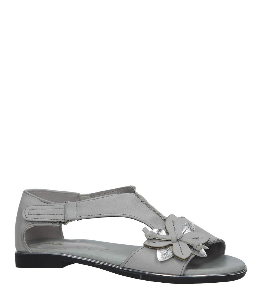 Szare sandały płaskie na rzep z zakrytą piętą Jezzi MR1741-5 producent Jezzi