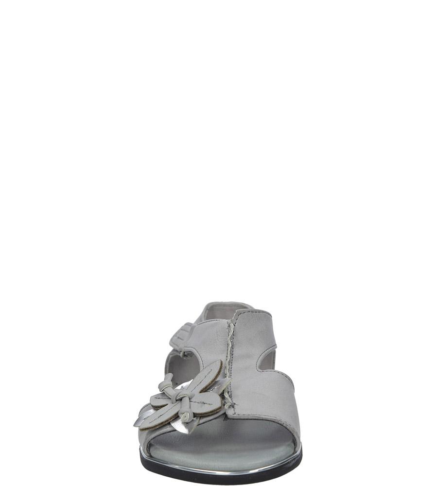 Szare sandały płaskie na rzep z zakrytą piętą Jezzi MR1741-5 sezon Lato