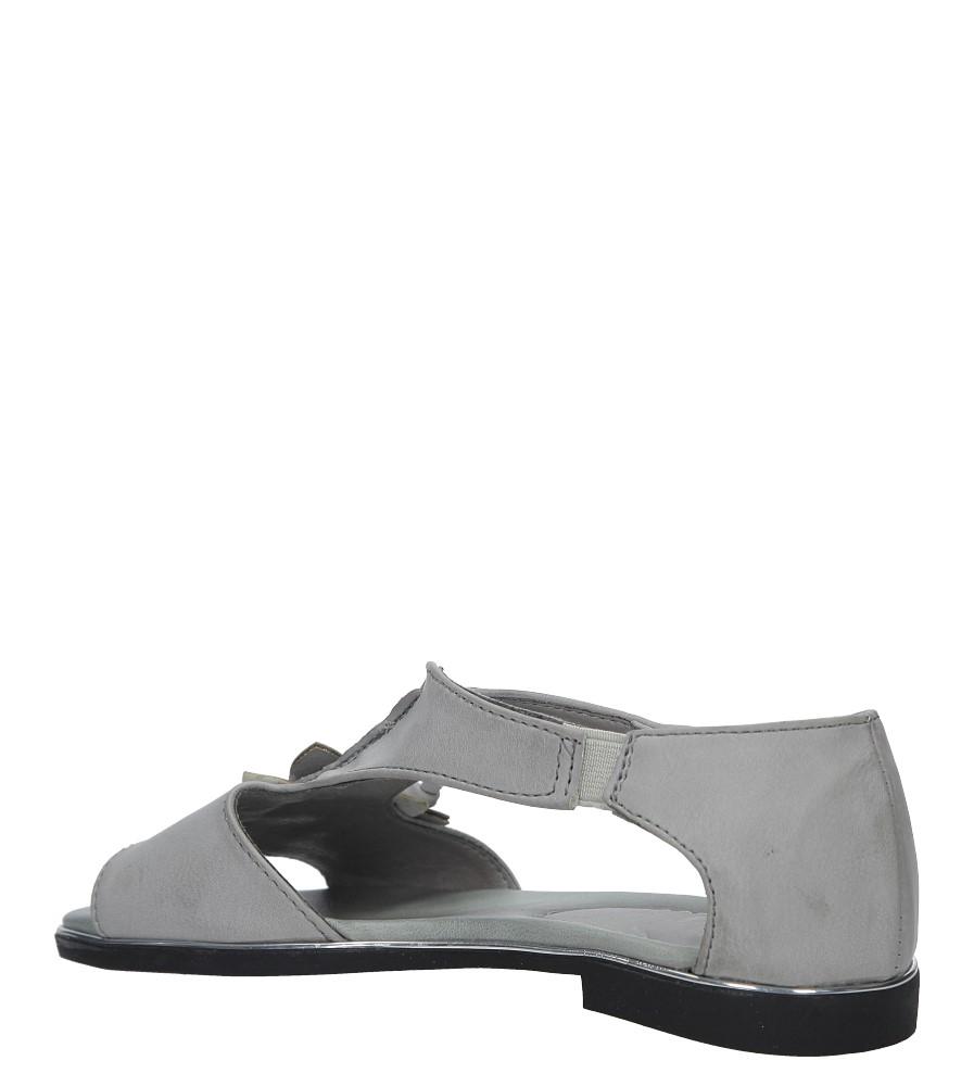 Szare sandały płaskie na rzep z zakrytą piętą Jezzi MR1741-5 kolor szary
