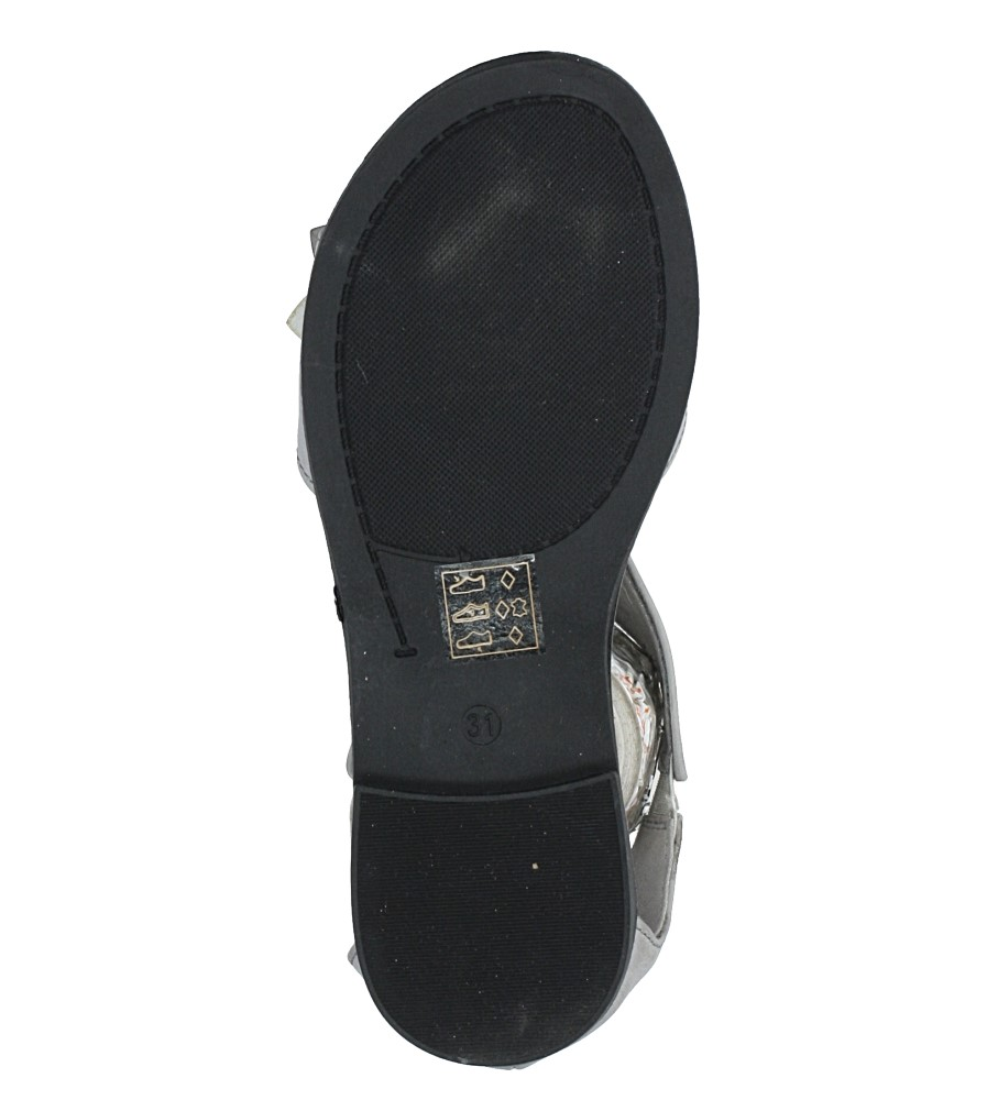 Szare sandały płaskie na rzep z zakrytą piętą Jezzi MR1741-5 wysokosc_platformy 1 cm