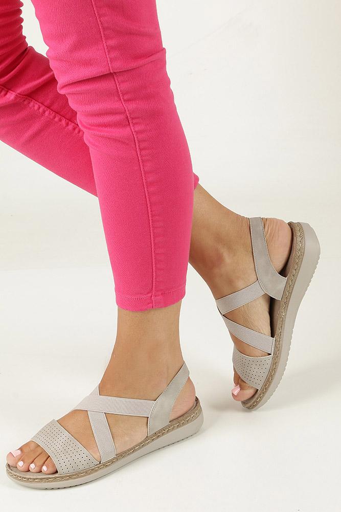Szare sandały S.Barski 912-2