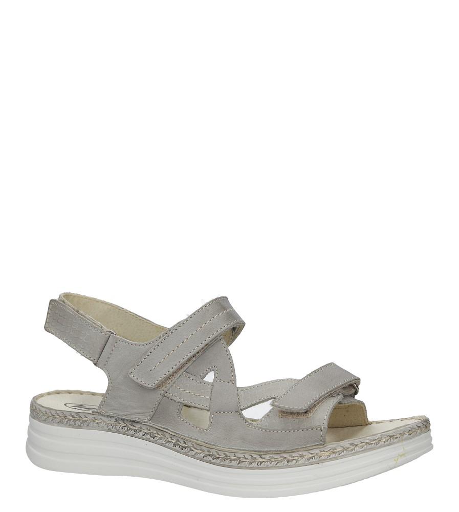 Szare sandały skórzane na platformie Helios 239