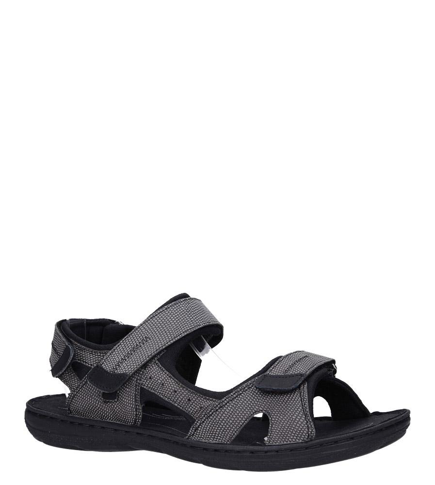 5b2f7465 Szare sandały skórzane na rzepy Łukbut 09910-4-L-140 ...