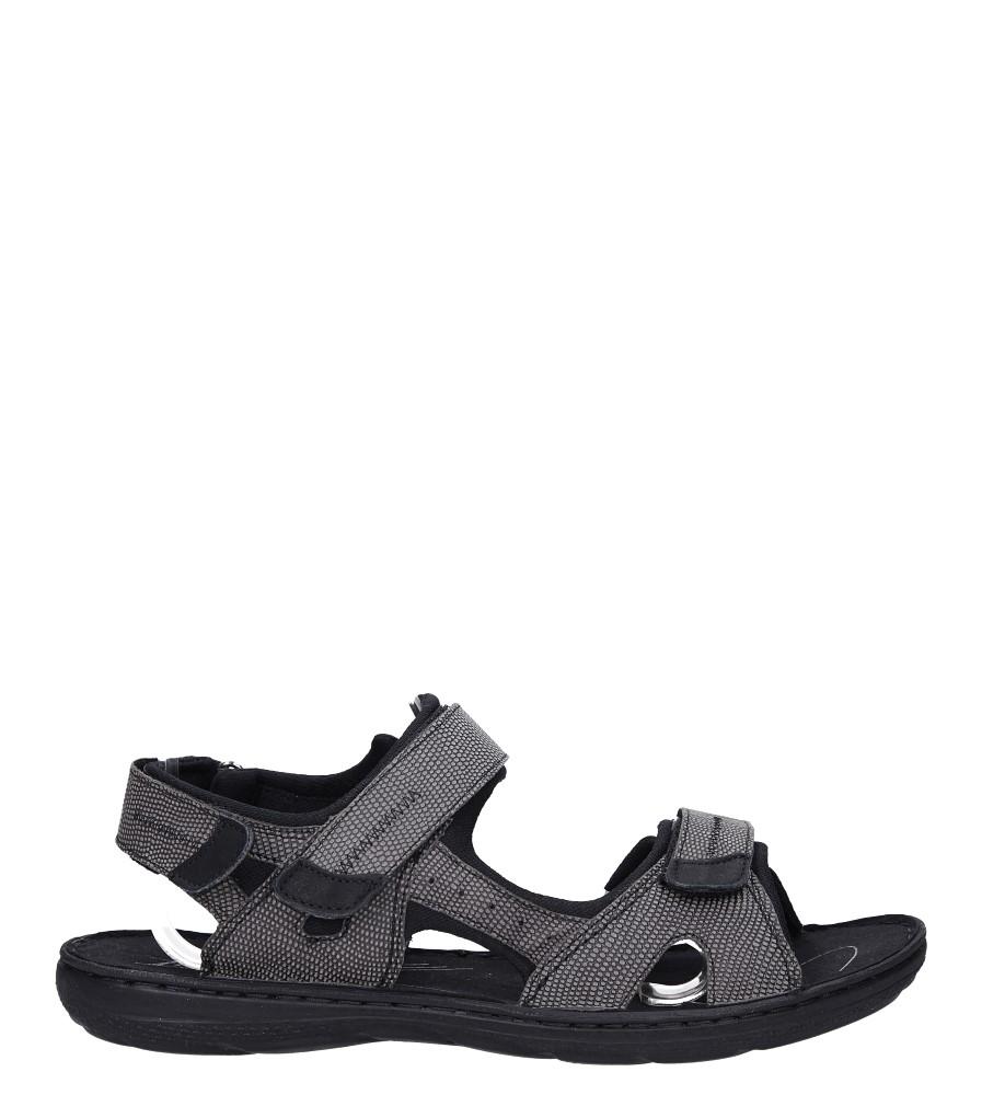 Szare sandały skórzane na rzepy Łukbut 09910-4-L-140 szary