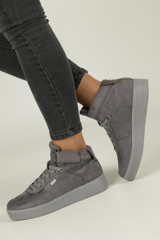 Szare sneakersy trampki sznurowane Big Star BB274645