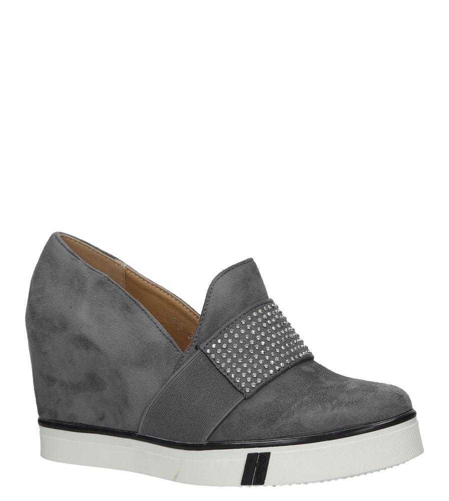 Szare sneakersy z nitami Casu T1715-3