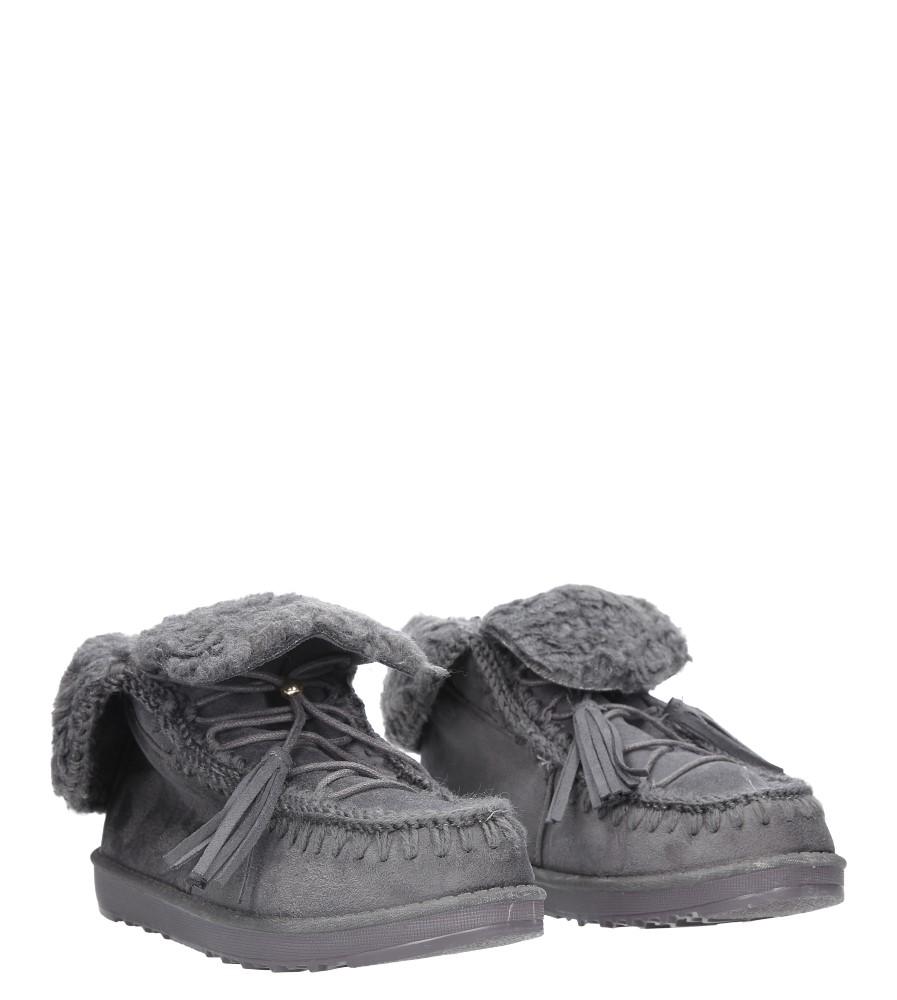 Szare śniegowce sznurowane emu Casu 100-3