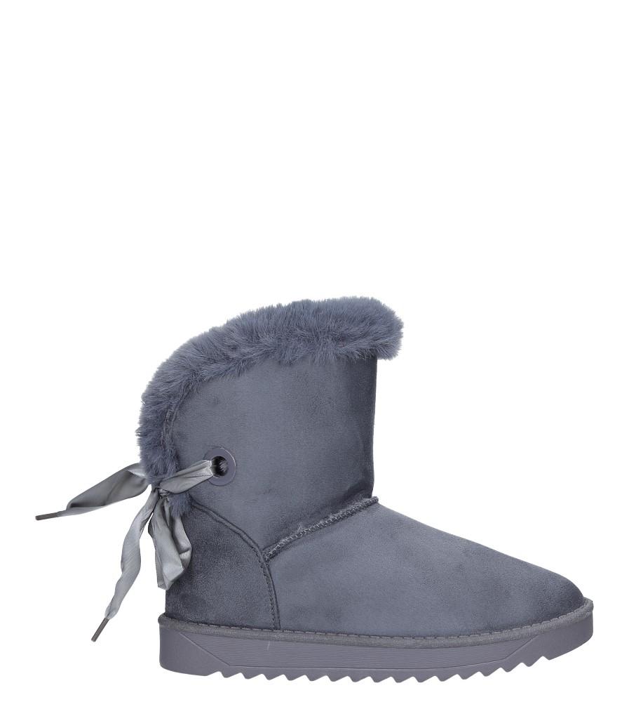 Szare śniegowce z futerkiem i kokardą emu Casu 632-2