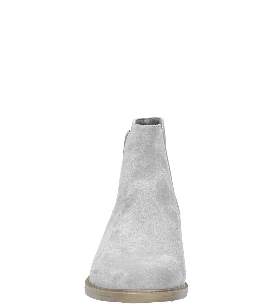 Szare sztyblety wiosenne Sergio Leone BT301-04M kolor jasny szary