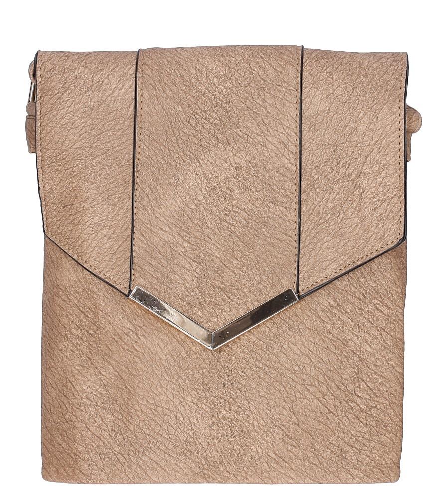 Damskie Torebka listonoszka z metalową ozdobą Casu B502 beżowy;;