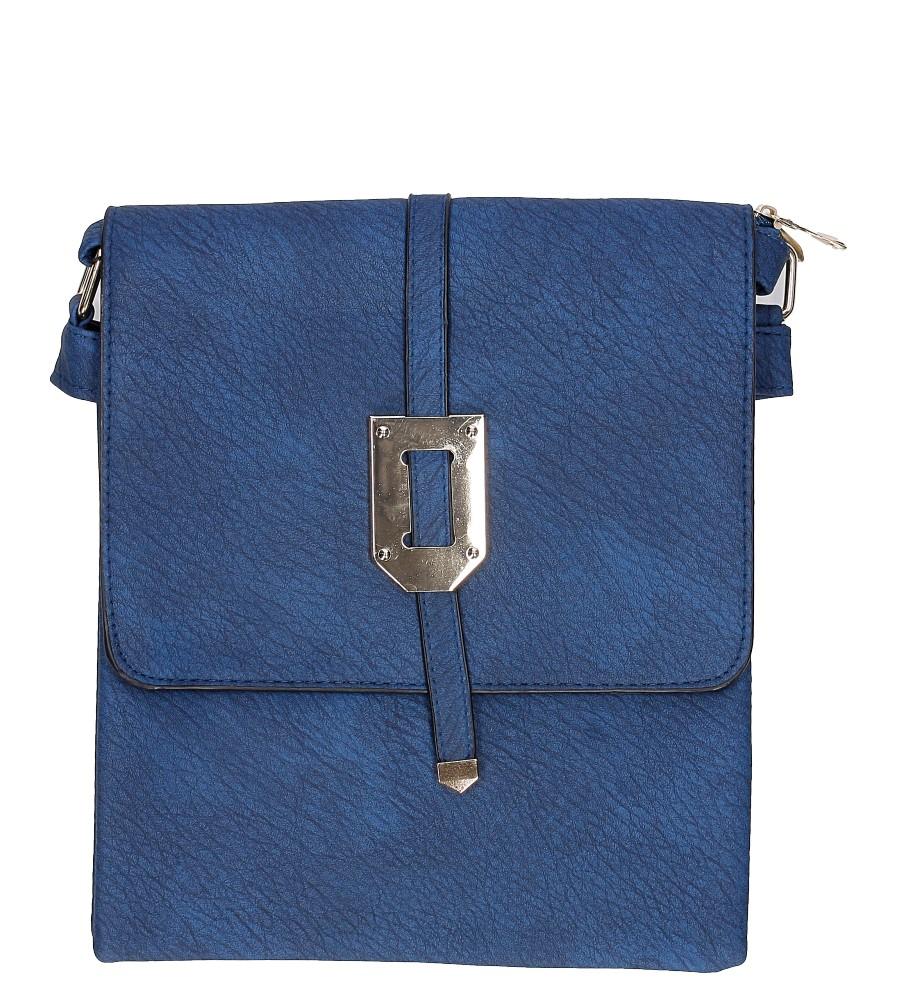 Damskie Torebka listonoszka z metalową ozdobą Casu B505 niebieski;;