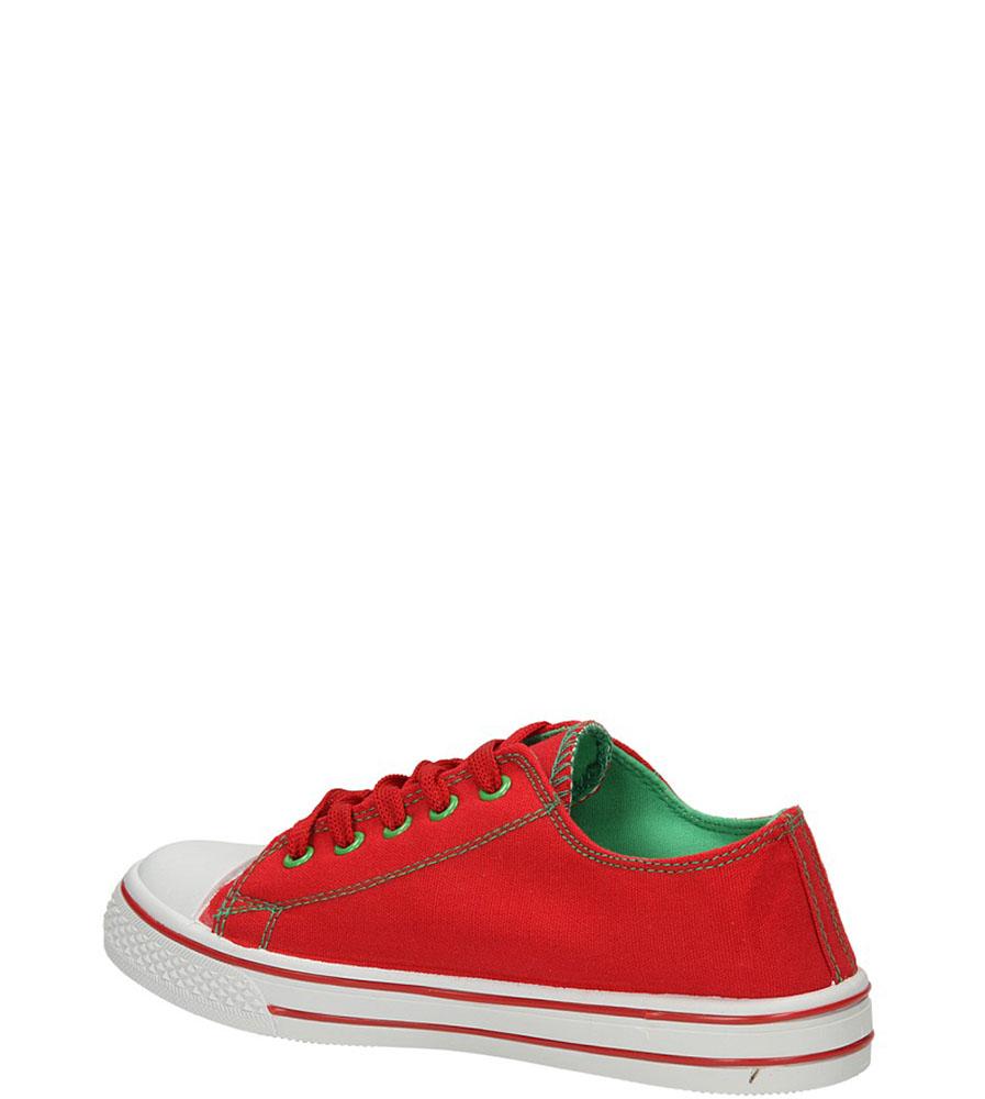 TRAMPKI 123808 kolor czerwony, zielony
