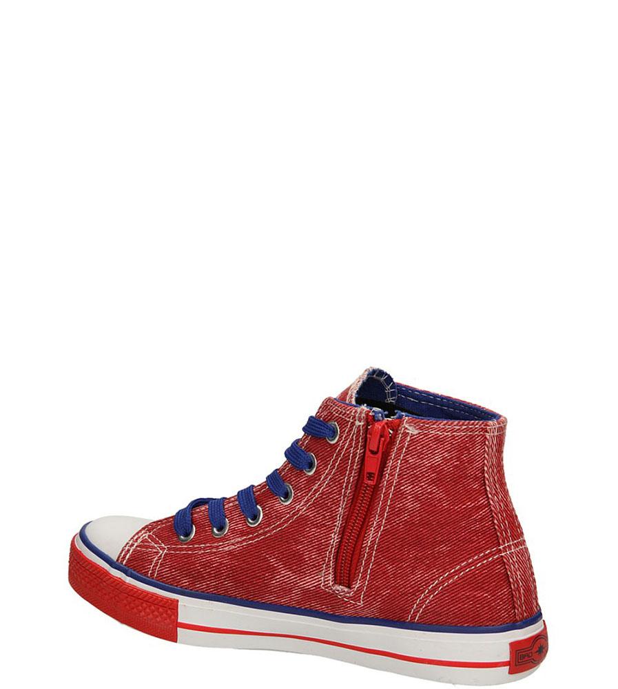 TRAMPKI 3XC6353-B kolor czerwony, niebieski