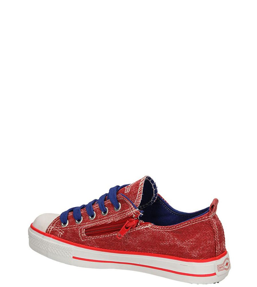 TRAMPKI 3XC6558-B kolor czerwony, niebieski