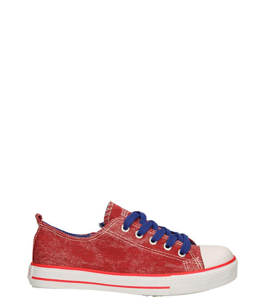 Dziecięce TRAMPKI 5XC6558-B czerwony;niebieski;