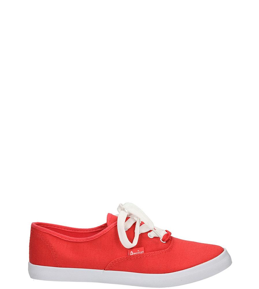 Damskie TRAMPKI AMERICAN LH-2013-61-9 czerwony;biały;