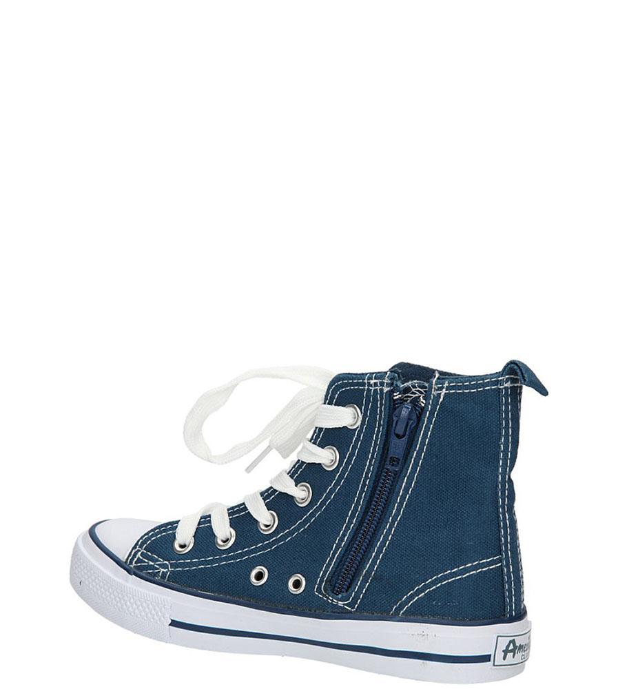 TRAMPKI AMERICAN LH-9120-1 kolor biały, ciemny niebieski