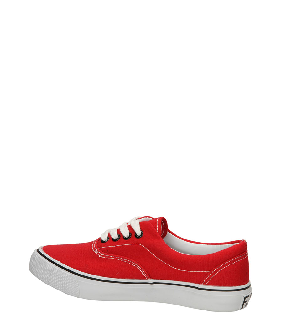 TRAMPKI CASU 412-11 kolor czarny, czerwony
