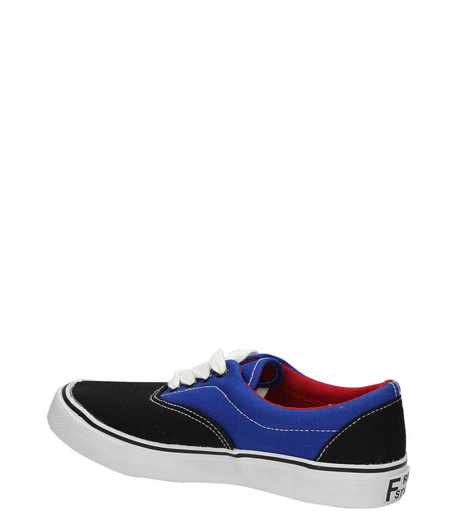 TRAMPKI CASU 412-3 kolor czarny, niebieski