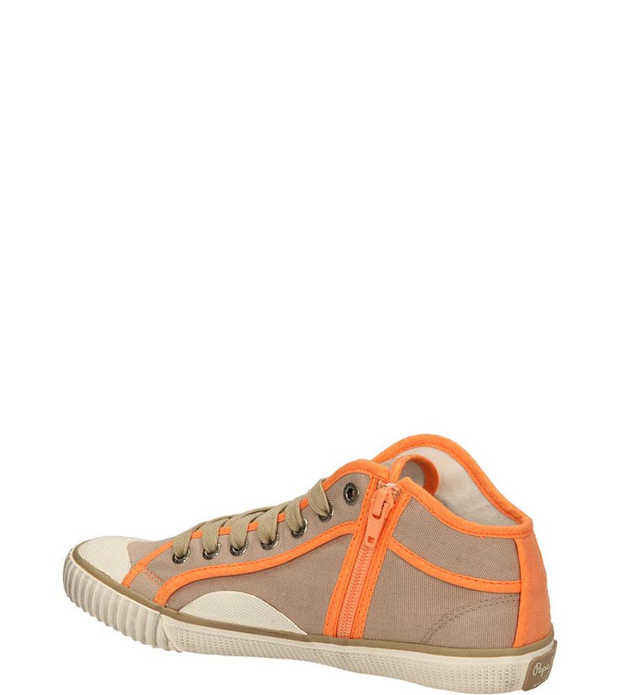 TRAMPKI PEPE JEANS PLS30010 kolor beżowy, pomarańczowy