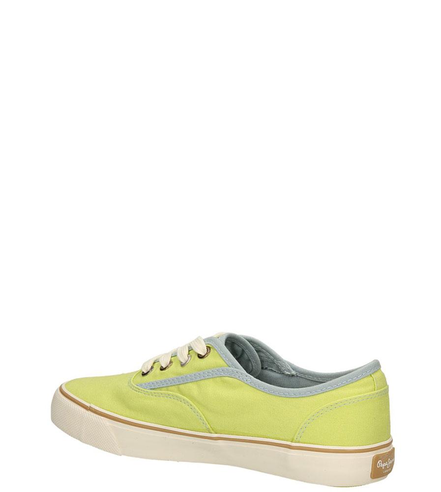 TRAMPKI PEPE JEANS PLS30015 kolor jasny zielony