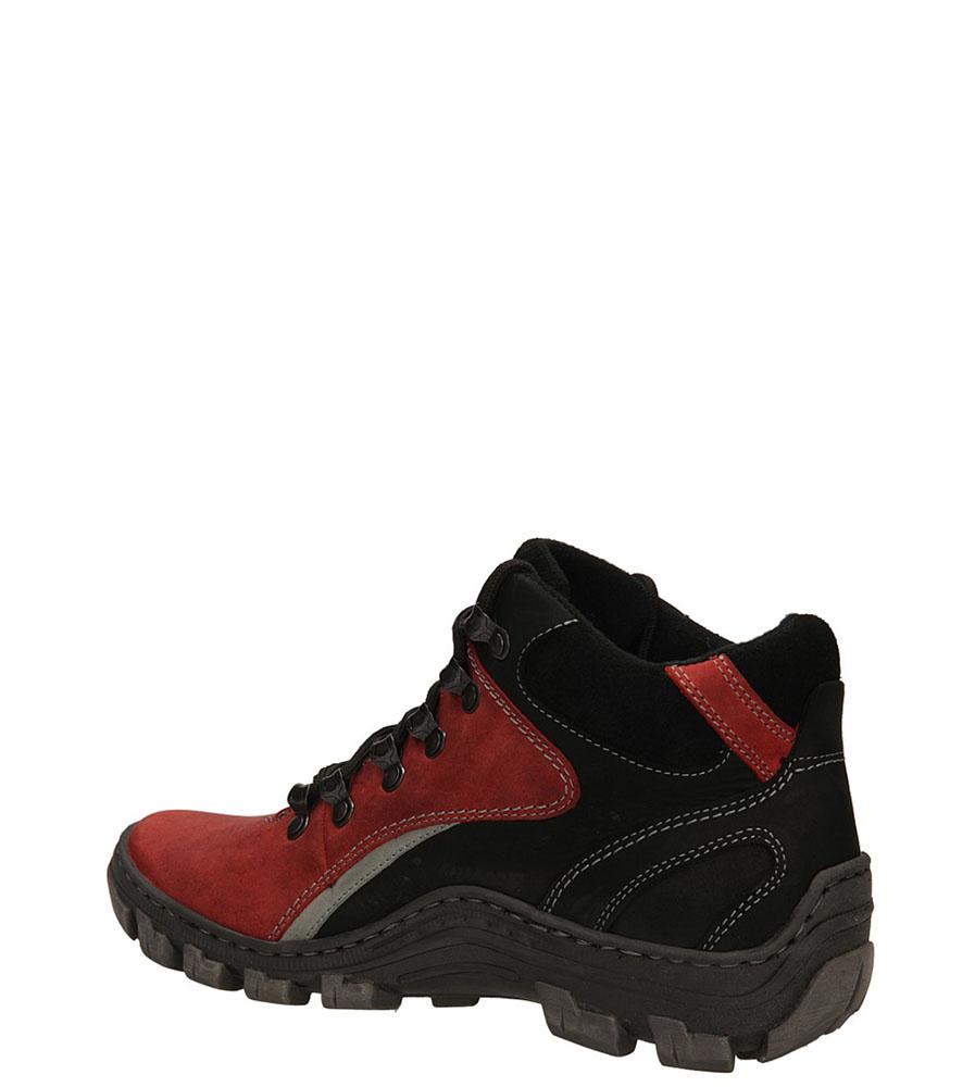TREKKINGOWE ŁUKBUT 618 kolor czarny, czerwony