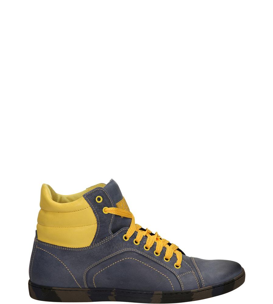 Męskie TRZEWIKI DUO MEN 408 niebieski;żółty;