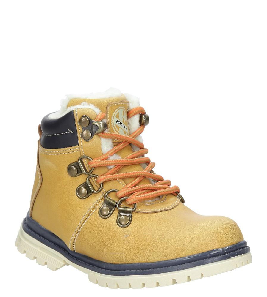 Dziecięce TRZEWIKI 1XC6690-W brązowy;brązowy;żółty