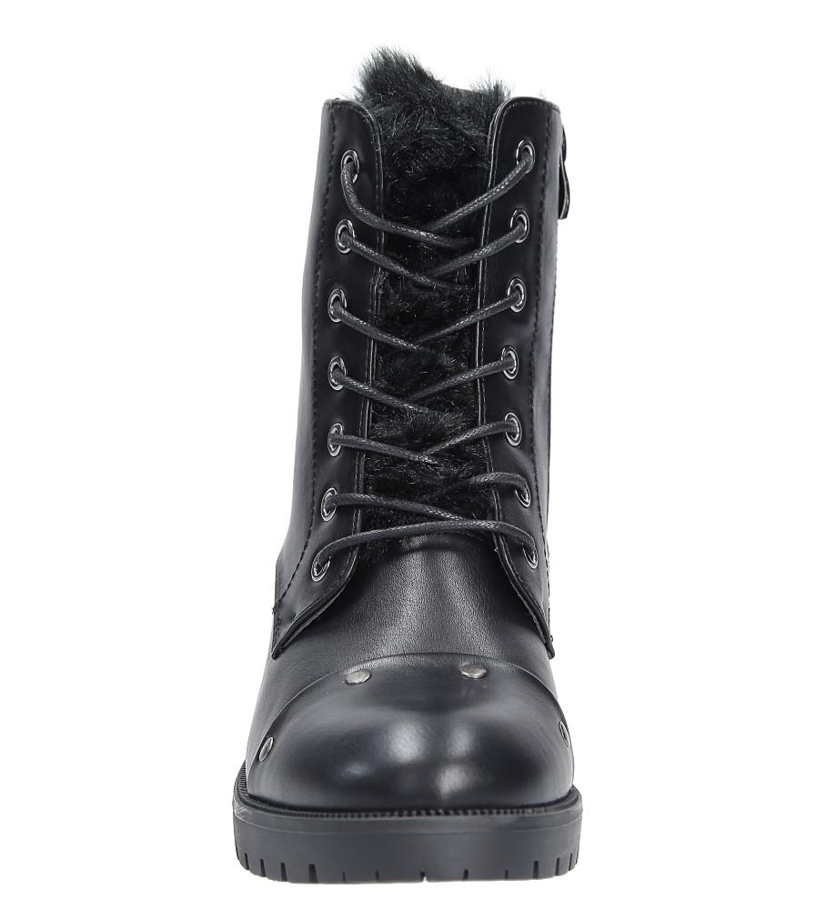 Trzewiki z futerkiem Sergio Leone BT0534 kolor czarny