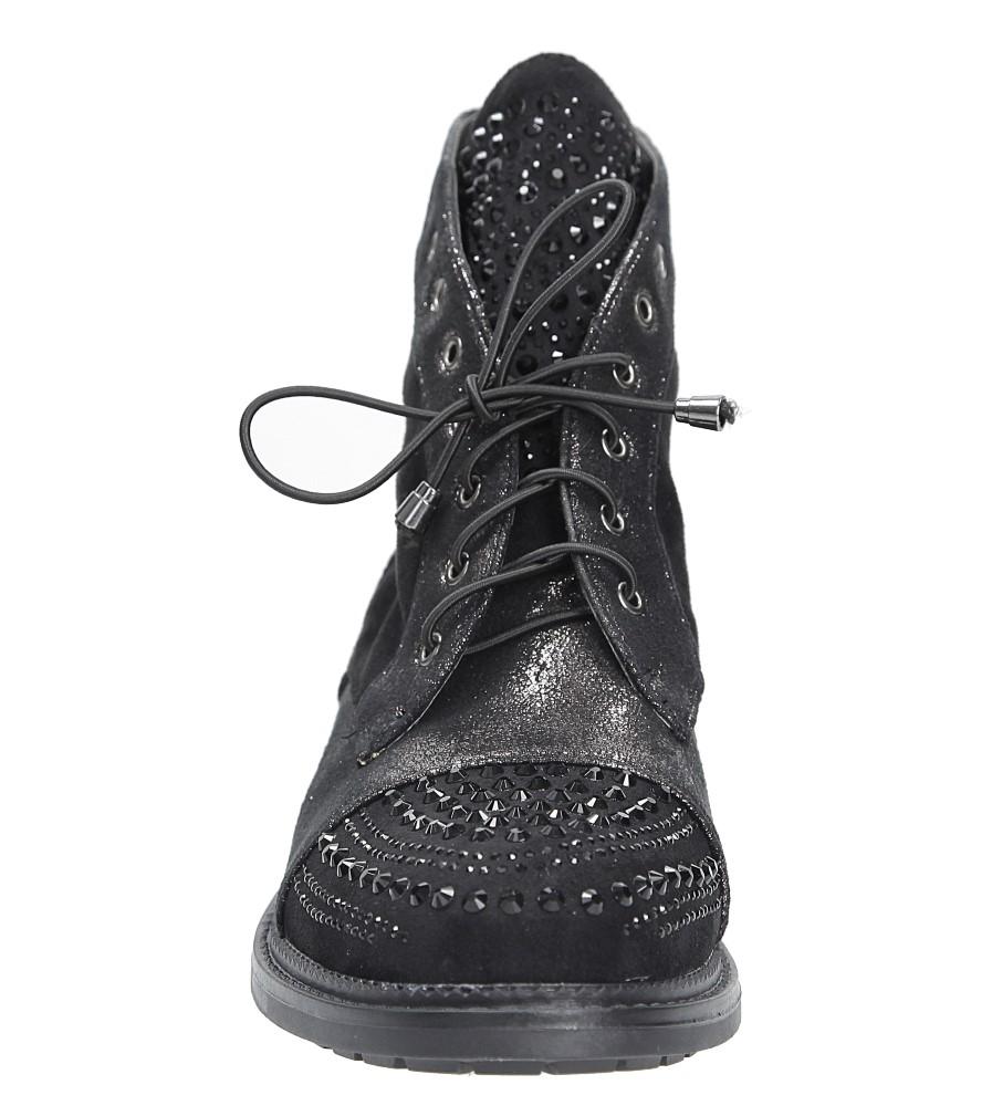 Trzewiki z kryształkami Casu B7659 kolor czarny