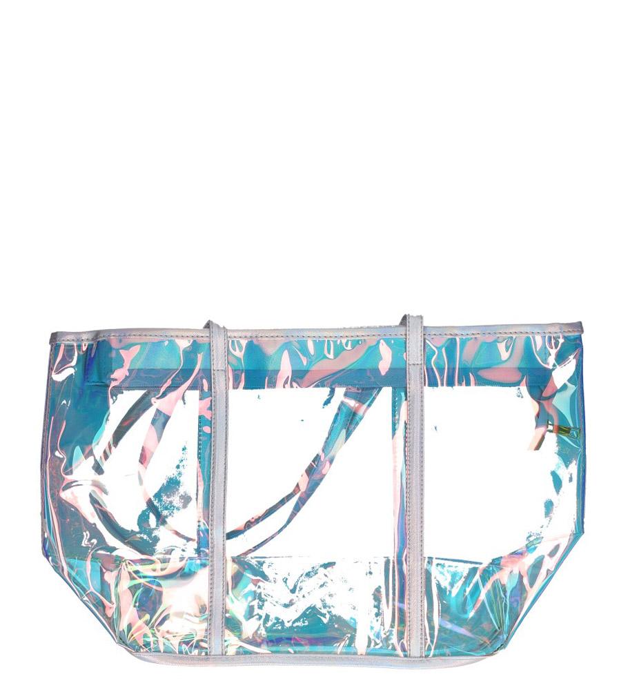 Wielobarwna torebka plażowa holograficzna Casu 300022