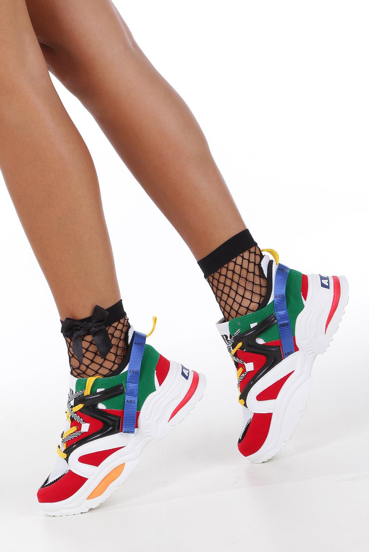 Wielokolorowe buty sportowe sneakersy sznurowane Casu 180816 multi kolor