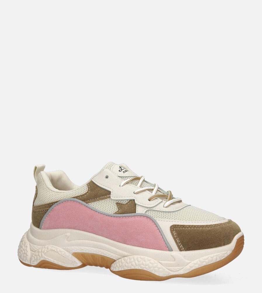 Wielokolorowe buty sportowe sneakersy sznurowane Casu 20G12/BE multi kolor