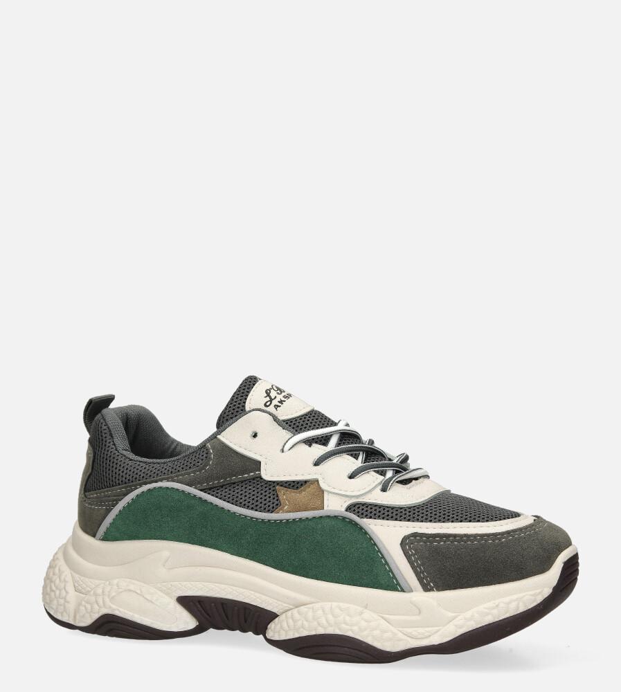 Wielokolorowe buty sportowe sneakersy sznurowane Casu 20G12/G multi kolor