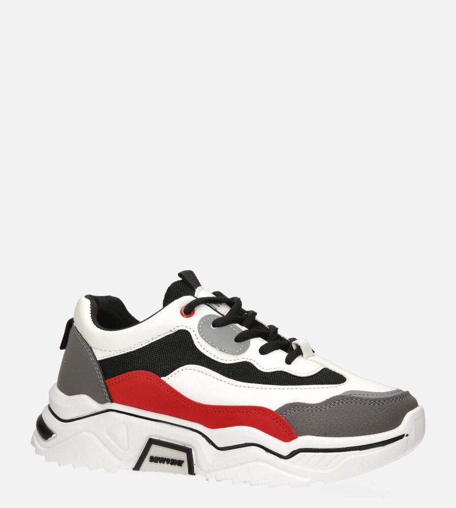 Wielokolorowe buty sportowe sneakersy sznurowane Casu 20H5/G czerwony