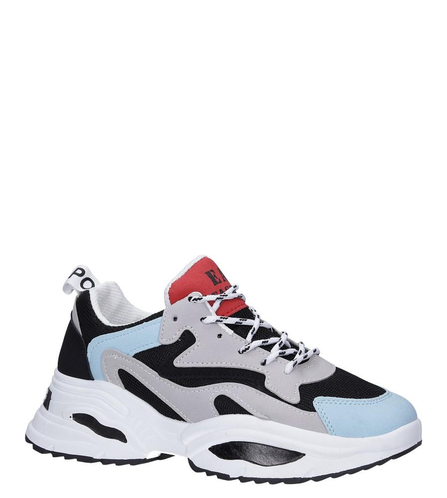 Wielokolorowe buty sportowe sneakersy sznurowane Casu C08