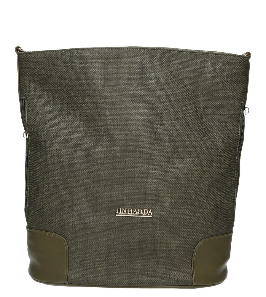 Zielona torebka listonoszka z frędzlami Casu XB-914