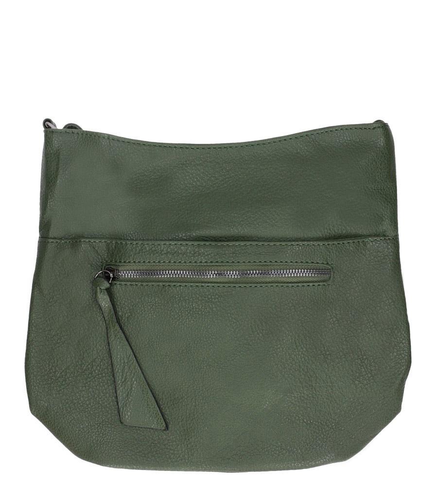 Zielona torebka listonoszka z ozdobnym suwakiem Casu AF-98