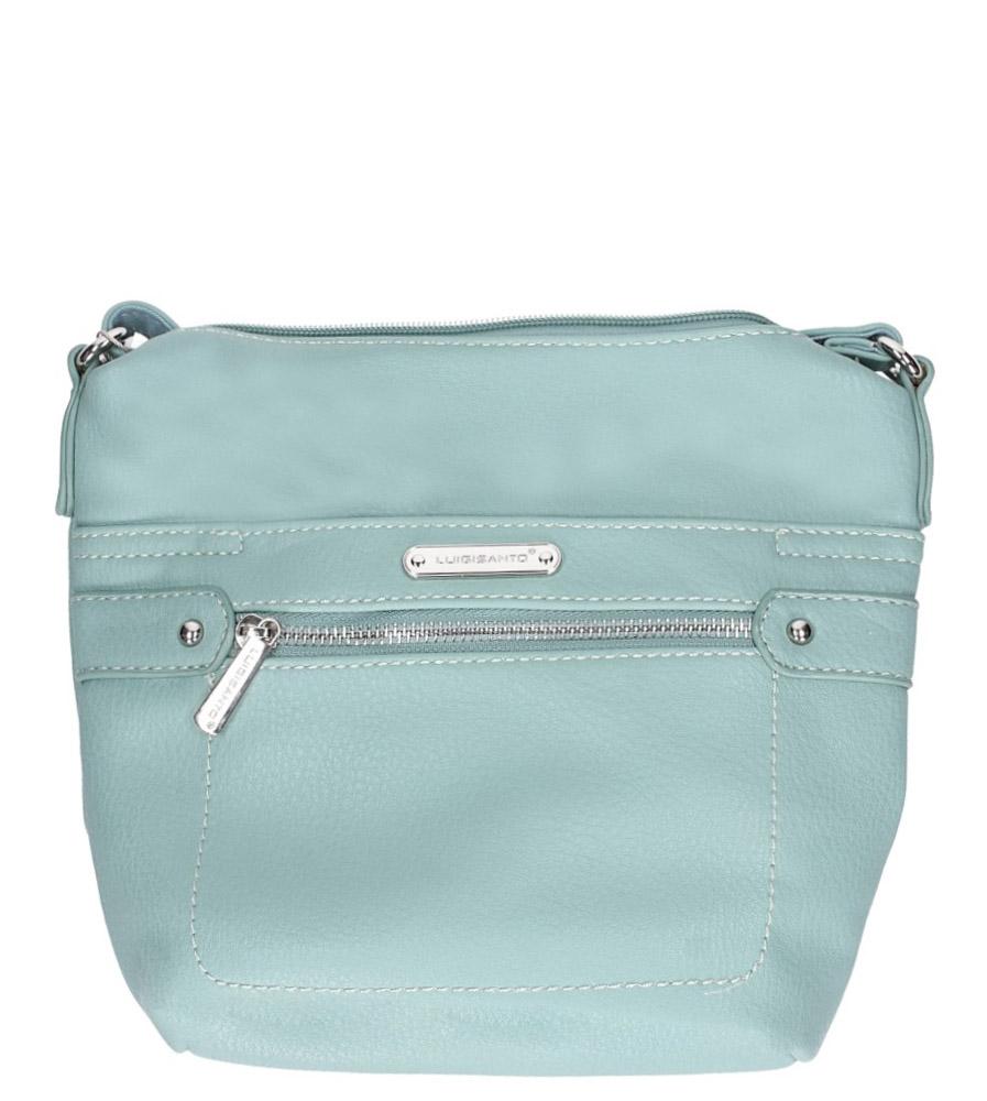 Zielona torebka mała z kieszonką z przodu Casu 5718-1