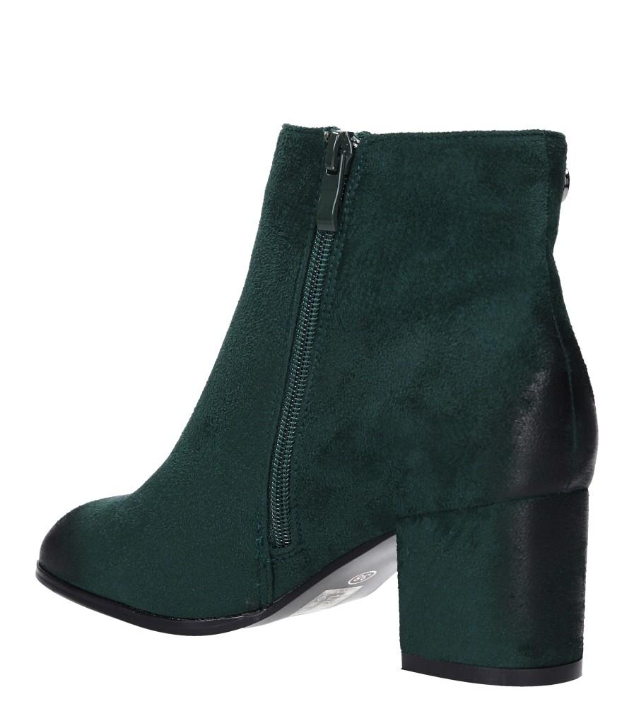 Zielone botki na słupku Casu G19X24/GN obwod_cholewki_u_gory 24 cm