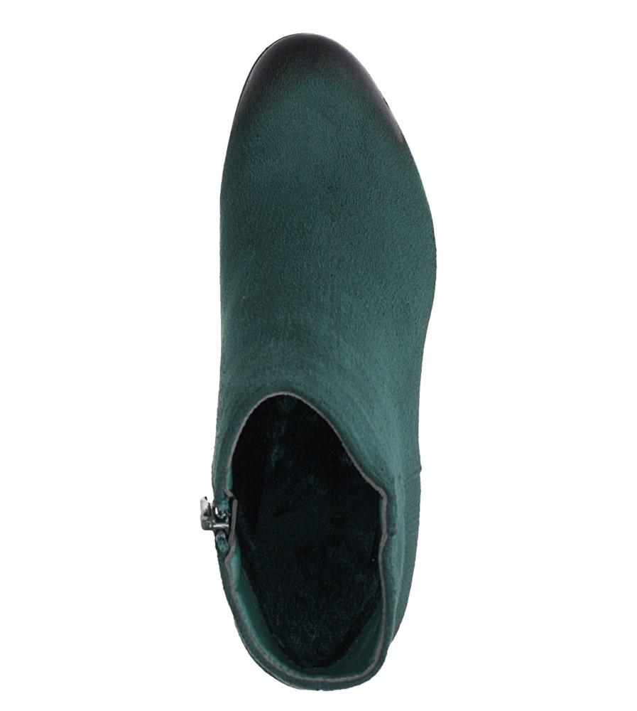 Zielone botki na słupku Casu G19X24/GN obwod_w_kostce 28 cm