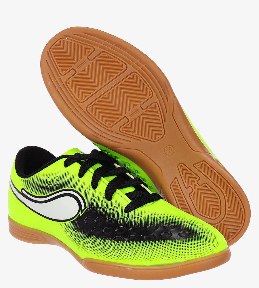 Zielone buty sportowe halówki sznurowane Casu D419-1 jasny zielony
