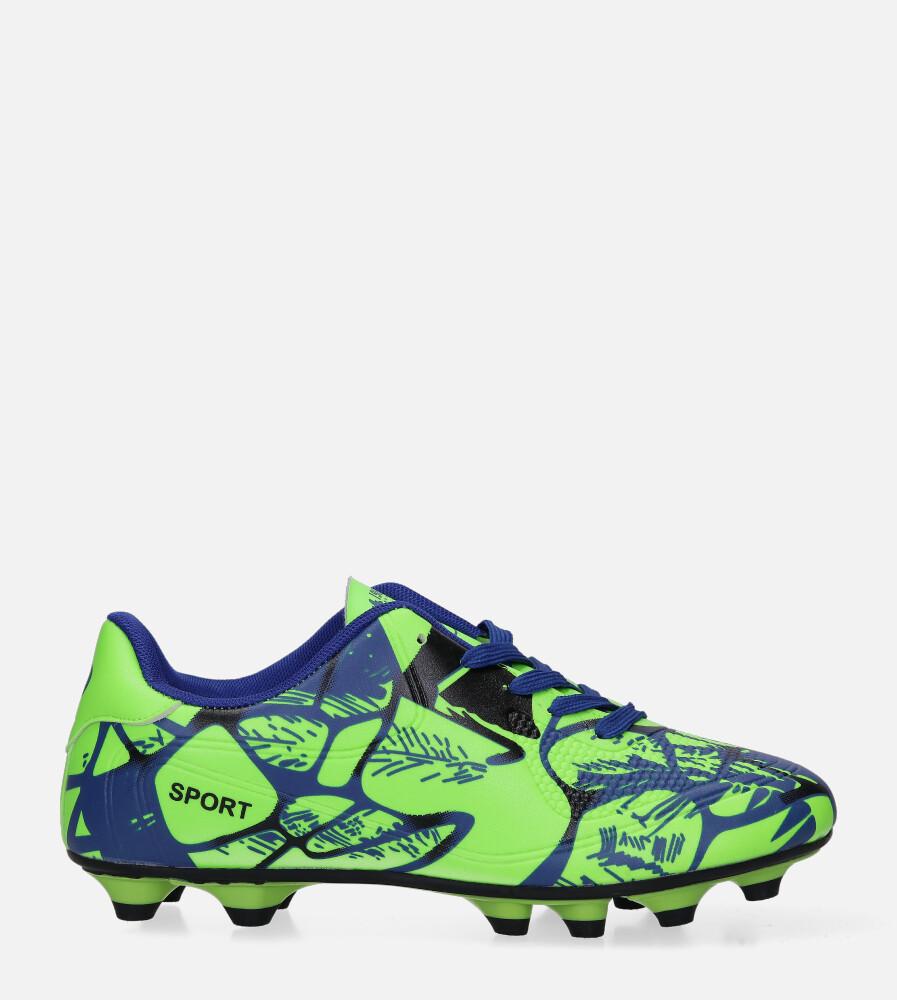 Zielone buty sportowe korki sznurowane Casu 163