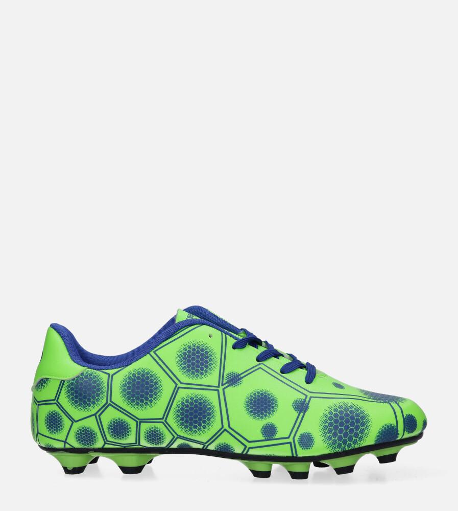 Zielone buty sportowe korki sznurowane Casu 168 seledynowy