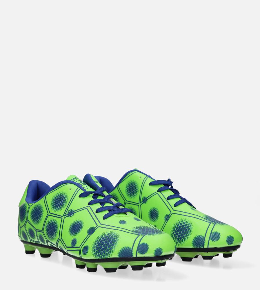 Zielone buty sportowe korki sznurowane Casu 168 kolor seledynowy