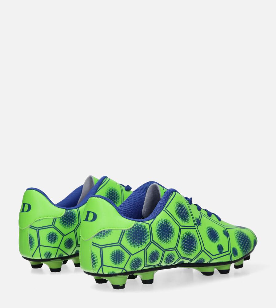 Zielone buty sportowe korki sznurowane Casu 168 wysokosc_platformy 2 cm