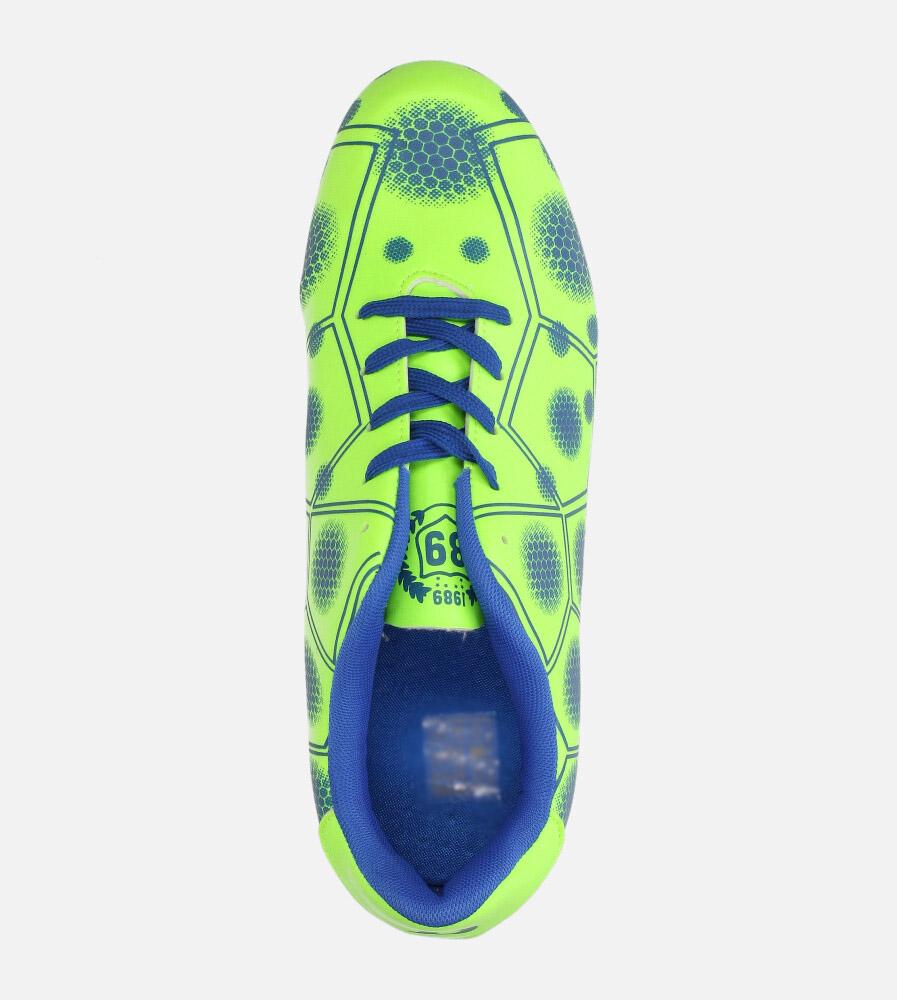 Zielone buty sportowe korki sznurowane Casu 168 wys_calkowita_buta 14 cm