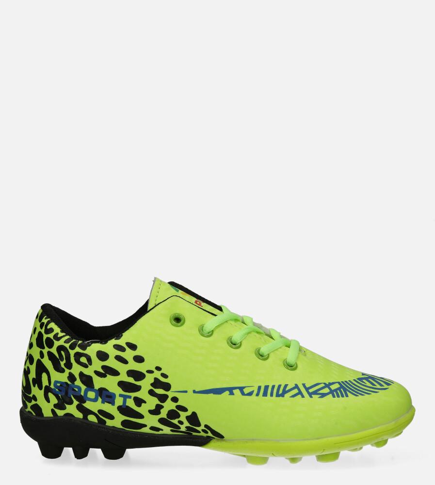Zielone buty sportowe korki sznurowane Casu 20M1/M