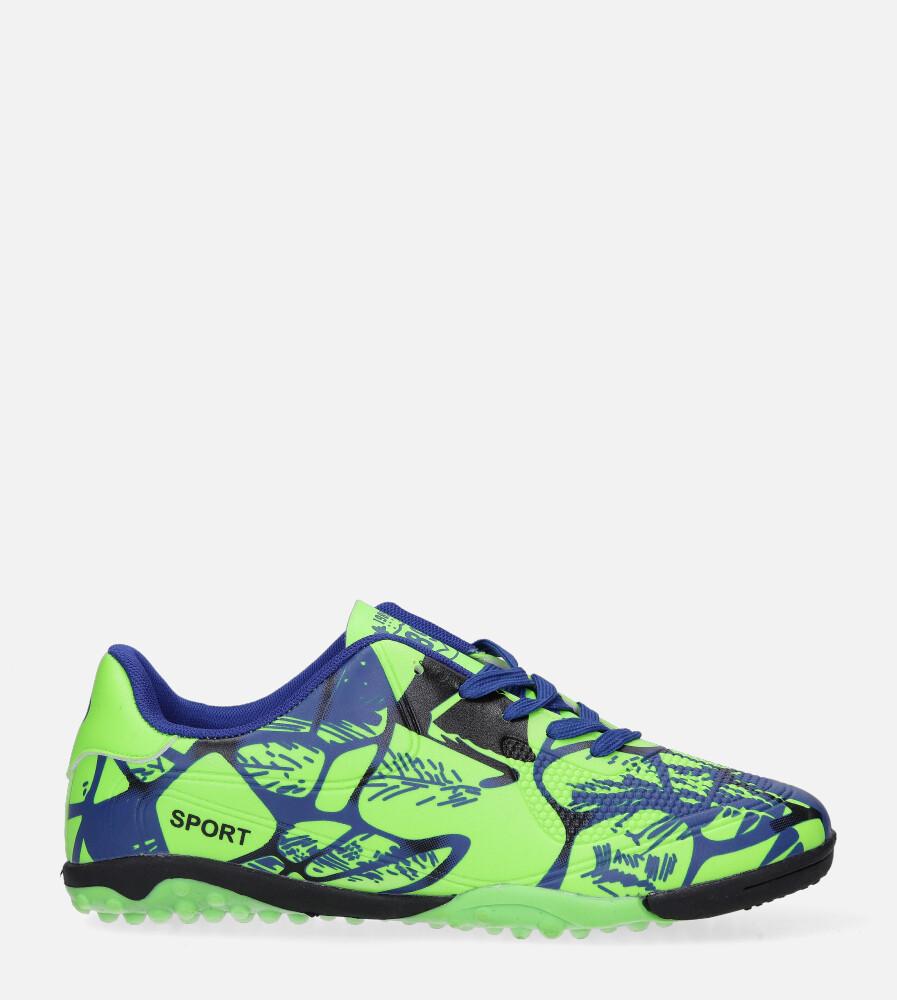Zielone buty sportowe orliki sznurowane Casu 163-1 seledynowy