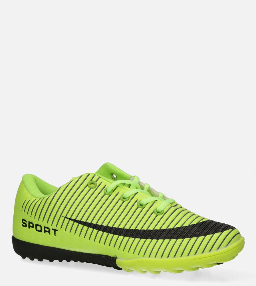 Zielone buty sportowe orliki sznurowane Casu 20M2/M
